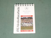 MERCEDES-BENZ ITC Media Race Facts Hockenheim October 1996 (small notebook)